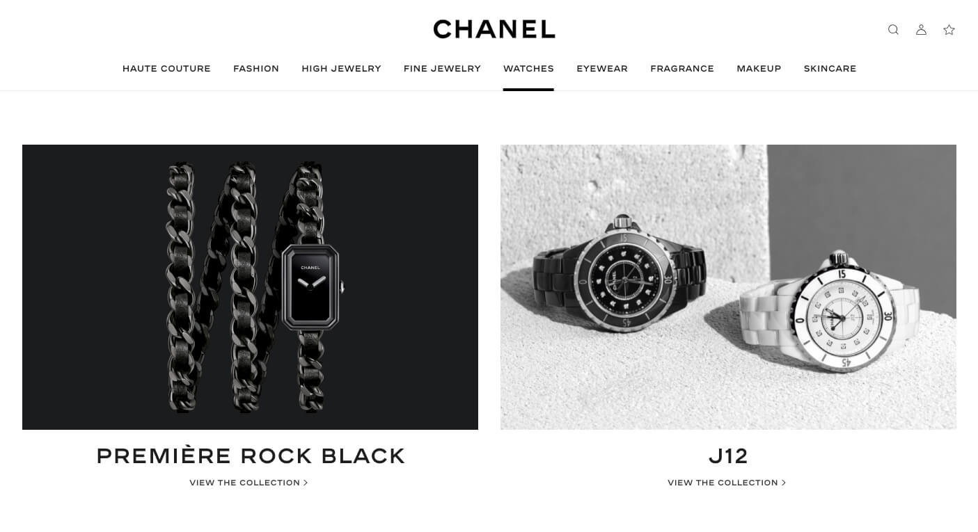 How Luxury Brands Can Use Web Design to Communicate Class Image Credit: Chanel