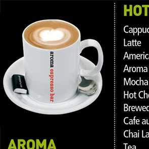 Aroma Coffee Digital Menu