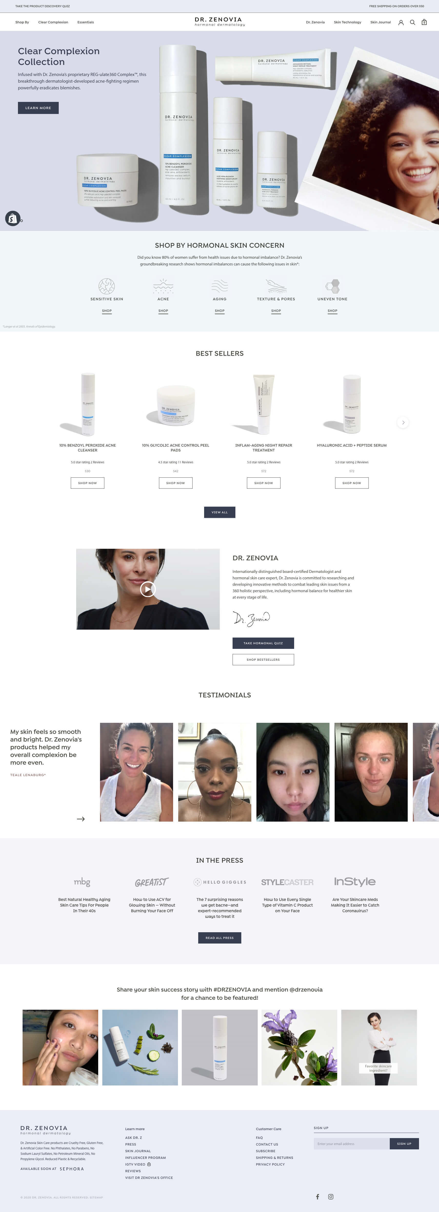Thumbnail for Shopify Plus website for skin care expert