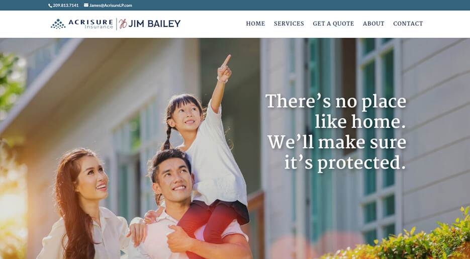 Jim Bailey Insurance Mini-Site