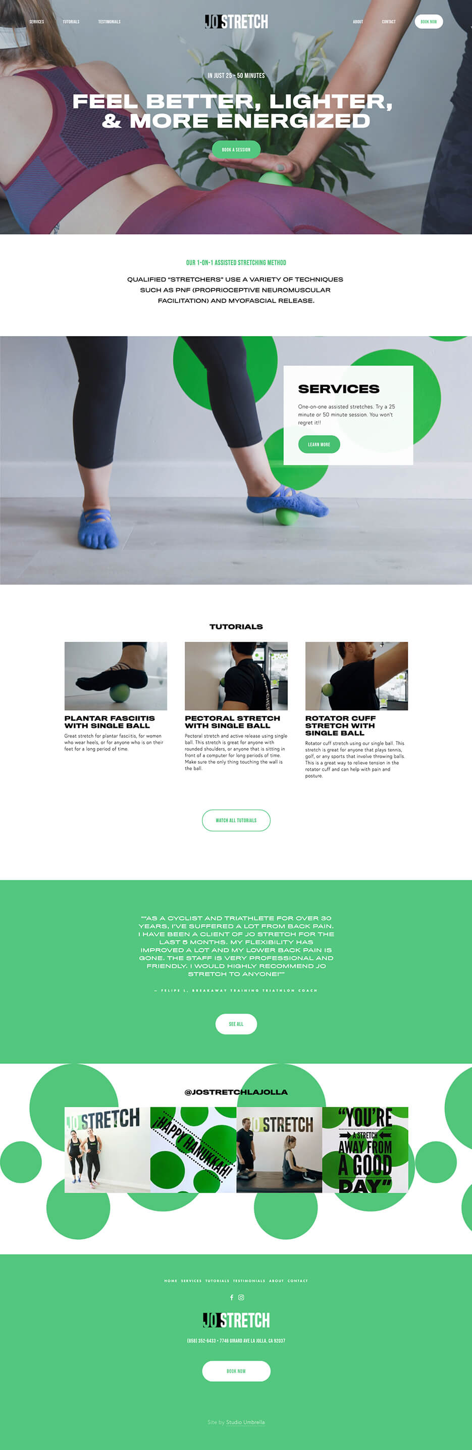 Thumbnail for Web design for a fitness studio
