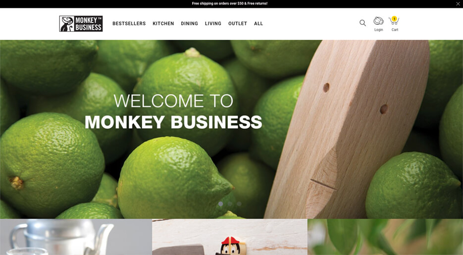 Monkey Business E-commerce Store