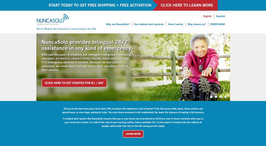 NuncaSolo USA Landing Page