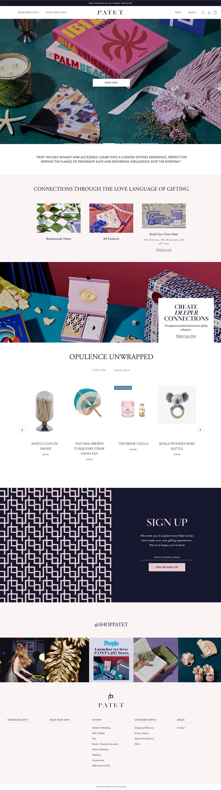 Thumbnail for Online store selling customized gift boxes
