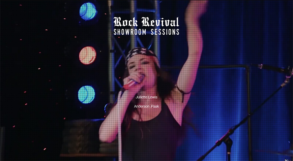 Rock Revival Showroom Sessions Landing Page