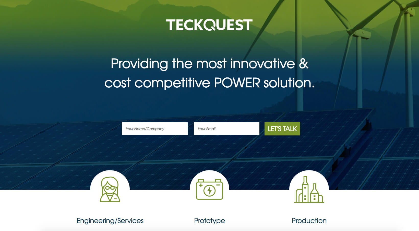 TeckQuest Landing Page