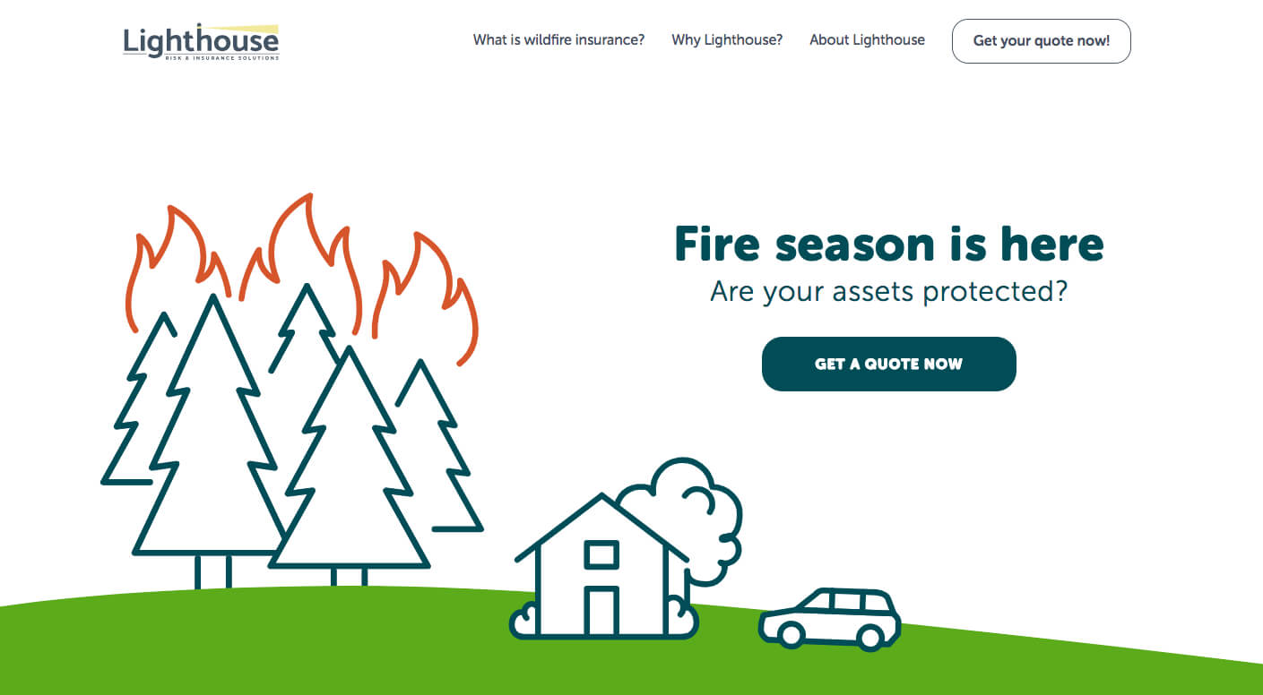 Wildfire Home Insurance Landing Page